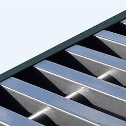 Convectorrooster vervaardigd uit 'RVS Look' aluminium