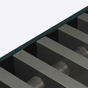 Convectorrooster vervaardigd uit antracietgrijs aluminium