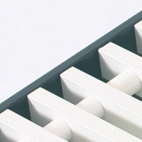 Convectorrooster vervaardigd uit wit aluminium