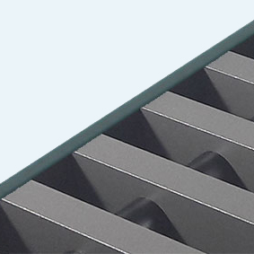 Convectorrooster vervaardigd uit zandgrijs aluminium