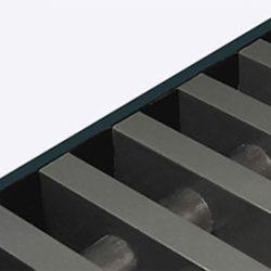 Rolrooster vervaardigd uit antracietgrijs aluminium
