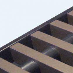 Rolrooster vervaardigd uit bronskleurig aluminium