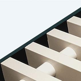 Rolrooster vervaardigd uit parelwit aluminium