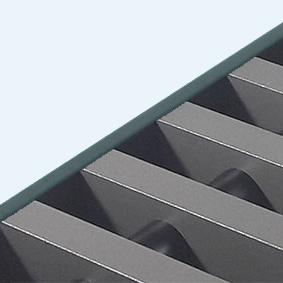 Rolrooster vervaardigd uit zandgrijs aluminium