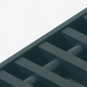 Rolrooster vervaardigd uit zwart aluminium